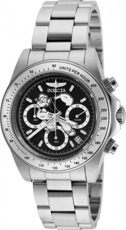 Men's Character Popeye White Dial Stainless Steel Stainless Steel Band Quartz Watch