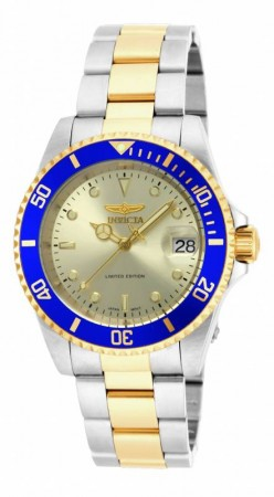 Men's Pro Diver Gold Dial Gold Stainless Steel Band Automatic Watch