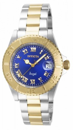 Women's Angel Blue Dial Gold/Stainless Steel Stainless Steel Band Quartz Watch