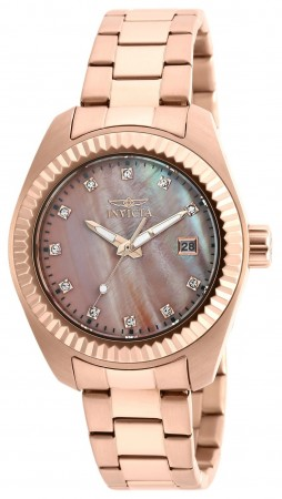 Women's Specialty Mother Of Pearl Dial Rose Gold Stainless Steel Band Quartz Watch