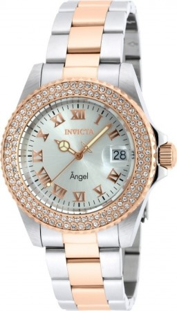 Women's Angel Silver Dial Rose Gold/Stainless Steel Stainless Steel Band Quartz Watch