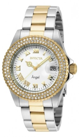Women's Angel White Dial Gold Tone, Stainless Steel Stainless Steel Band Quartz Watch