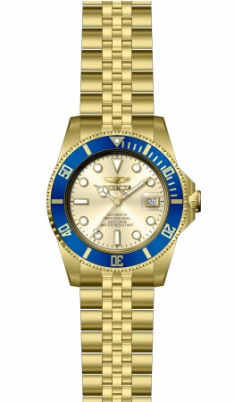 Men's Pro Diver Champagne Dial Gold Band Automatic Watch