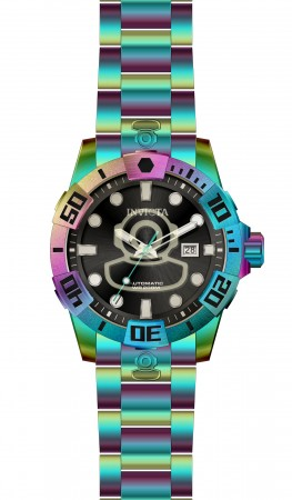 Men's Pro Diver Black Dial Rainbow Stainless Steel Band Automatic Watch