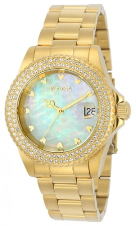 Women's Disney Silver Dial Gold Tone Stainless Steel Band Quartz Watch