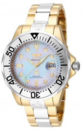 Men's Pro Diver White Dial Gold/Stainless Steel Stainless Steel Band Automatic Watch