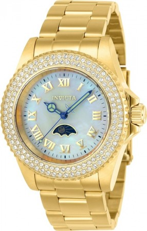 Women's Sea Base Mother Of Pearl Dial Gold Stainless Steel Band Quartz Watch