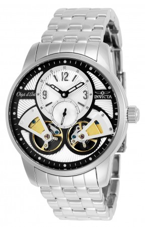 Men's Objet D Art Silver Dial Stainless Steel Stainless Steel Band Automatic Watch