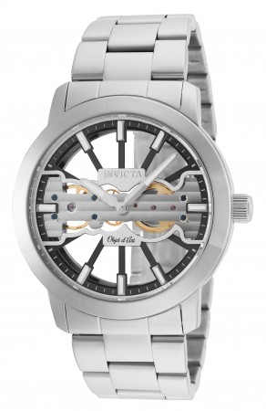 Men's Objet D Art Silver Dial Stainless Steel Stainless Steel Band Mechanical Watch