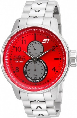 Men's S1 Rally Red Dial Stainless Steel Stainless Steel Band Quartz Watch