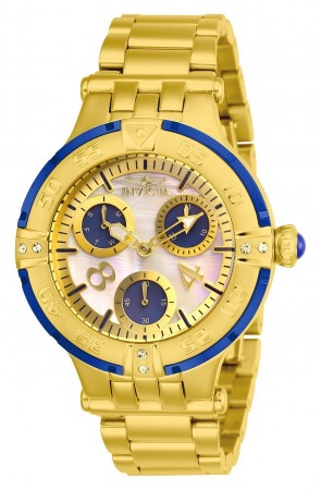 Women's Subaqua 3 White Dial Gold Stainless Steel Band Quartz Watch
