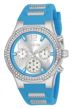 Women's Blu Silver Dial Blue/Stainless Steel Silicon Band Quartz Watch