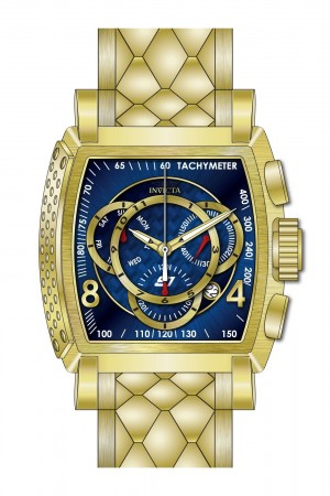Men's S1 Rally Blue Dial Gold Stainless Steel Band Quartz Watch