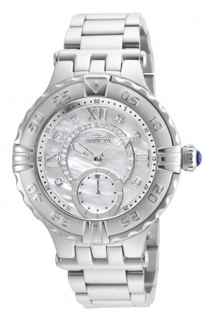 Women's Subaqua Silver Dial Silver Stainless Steel Band Quartz Watch