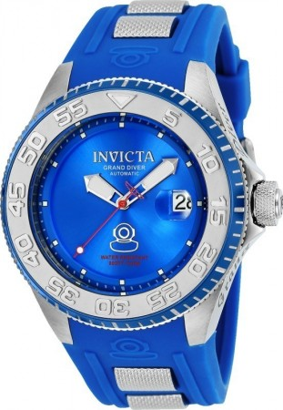 Men's Pro Diver Blue Dial Blue/Stainless Steel Silicon Band Automatic Watch