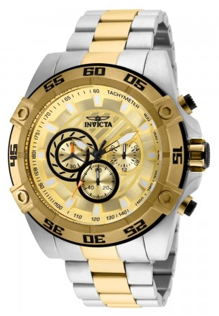 Men's Speedway Gold Dial Gold/Stainless Steel Stainless Steel Band Quartz Watch