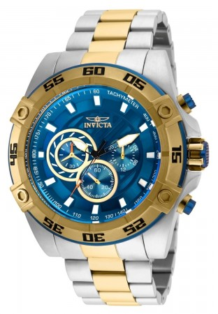 Men's Speedway Blue Dial Gold/Stainless Steel Stainless Steel Band Quartz Watch