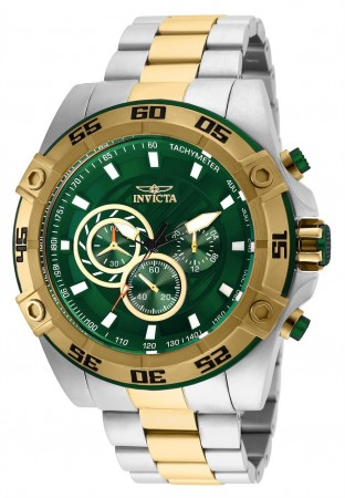 Men's Speedway Green Dial Gold/Stainless Steel Stainless Steel Band Quartz Watch