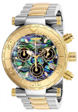 Men's Subaqua Black Dial Gold/Stainless Steel Stainless Steel Band Quartz Watch