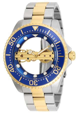 Men's Pro Diver Blue Dial Gold/Stainless Steel Stainless Steel Band Mechanical Watch
