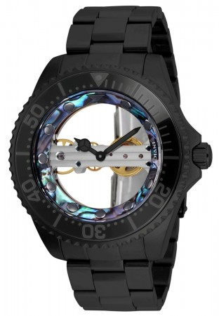 Men's Pro Diver Black Dial Black Stainless Steel Band Mechanical Watch