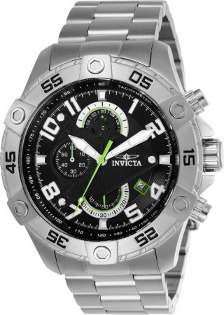 Men's S1 Rally Black Dial Stainless Steel Stainless Steel Band Quartz Watch