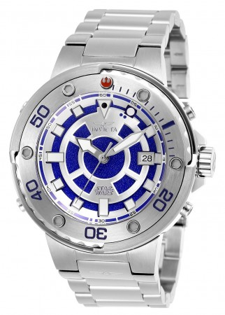 Men's Star Wars R2-D2 Blue Dial Stainless Steel Stainless Steel Band Automatic Watch