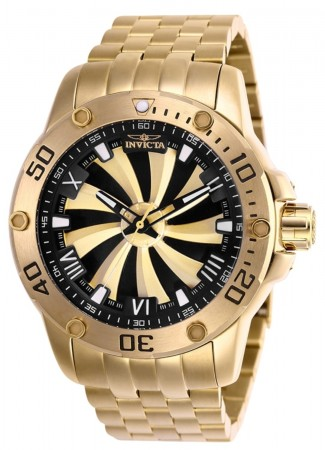 Men's Speedway Black Dial Gold Stainless Steel Band Automatic Watch