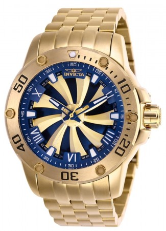 Men's Speedway Blue Dial Gold Stainless Steel Band Automatic Watch