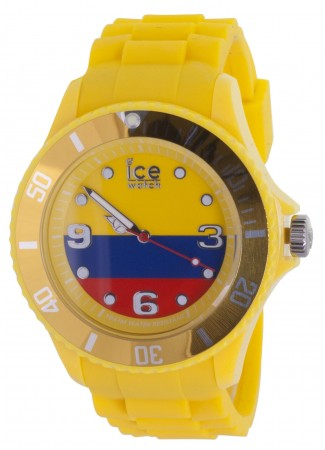 Unisex Ice-World Colombia Big Multicolor Dial Watch