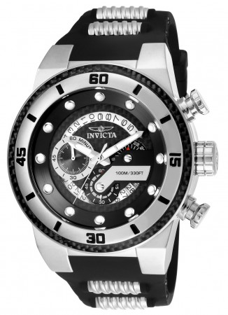 Men's S1 Rally Black Dial Black/Stainless Steel Polyurethane/Stainless Steel Band Quartz Watch