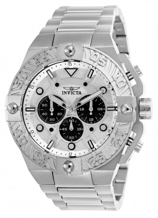 Men's Pro Diver Silver Dial Stainless Steel Stainless Steel Band Quartz Watch