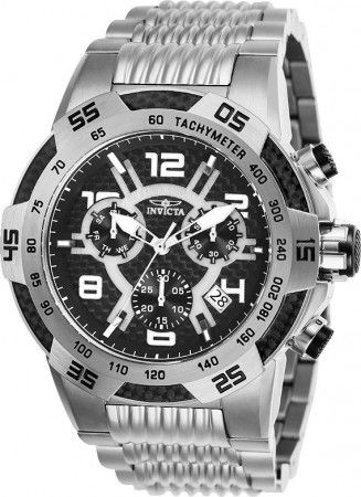 Men's Speedway Black Dial Stainless Steel Stainless Steel Band Quartz Watch