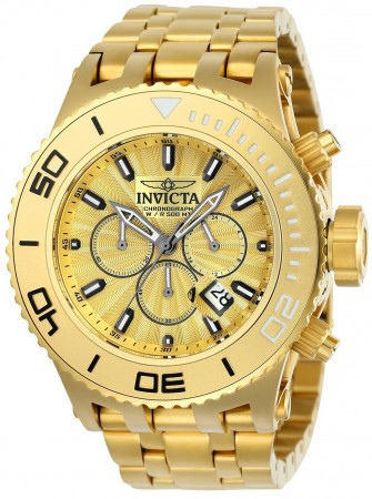 Men's Subaqua Gold Dial Gold Stainless Steel Band Quartz Watch