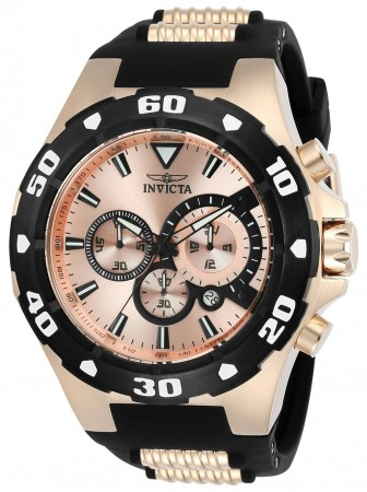 Men's Pro Diver Rose Gold Dial Rose Gold/Black Polyurethane/Stainless Steel Band Quartz Watch