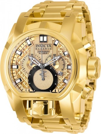 Men's Reserve Bolt Zeus Gold Dial Gold Stainless Steel Band Quartz Watch