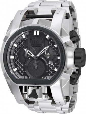Men's Reserve Bolt Zeus Gun Metal Dial Stainless Steel Stainless Steel Band Quartz Watch
