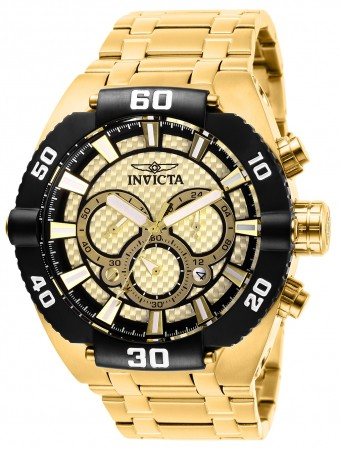 Men's Coalition Forces Gold Dial Gold Tone Stainless Steel Band Quartz Watch