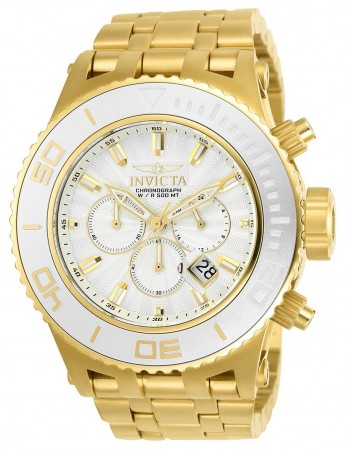 Men's Subaqua Silver Dial Gold Stainless Steel Band Quartz Watch