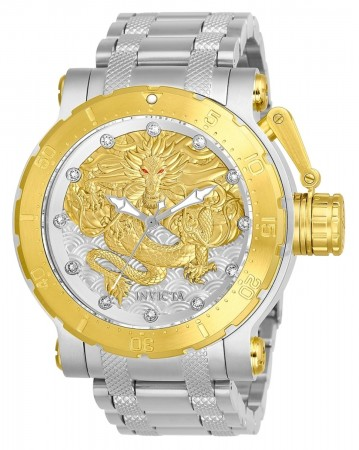 Men's Coalition Forces Gold Dial Stainless Steel Stainless Steel Band Automatic Watch