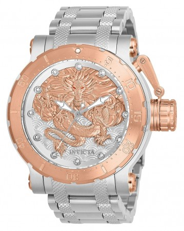 Men's Coalition Forces Rose Gold Dial Stainless Steel Stainless Steel Band Automatic Watch