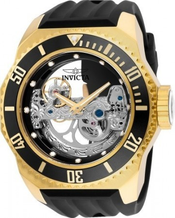 Men's Russian Diver Black Dial Black Silicon Band Automatic Watch