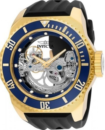 Men's Russian Diver Blue Dial Black Silicon Band Automatic Watch
