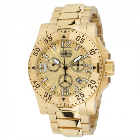Men's Excursion Gold Dial Gold Stainless Steel Band Quartz Watch