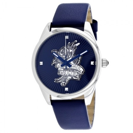 Women's Navy Tatoo Blue Dial Blue Leather Band Quartz Watch