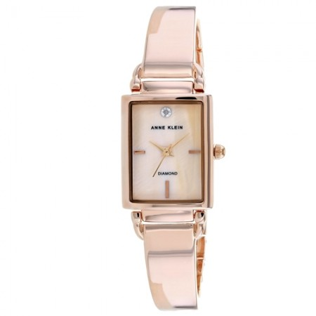 Women's Classic Pink Dial Rose Gold-Tone Stainless Steel Band Quartz Watch