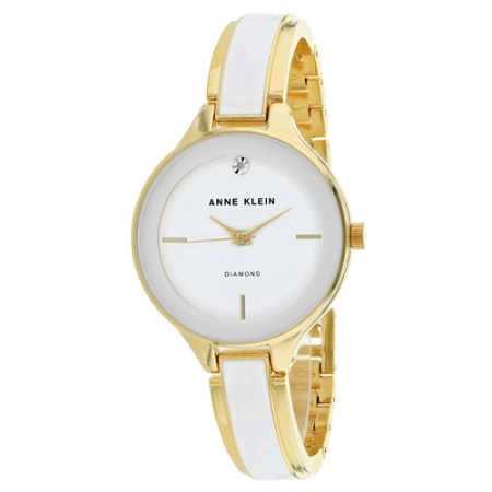 Women's Classic White Dial White Stainless Steel Band Quartz Watch