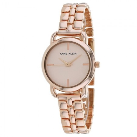Women's Classic Rose Gold-Tone Dial Rose Gold-Tone Stainless Steel Band Quartz Watch