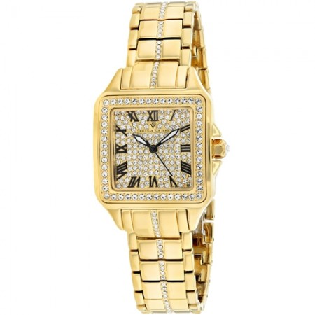 Women's Splendeur Gold-Tone Dial Gold-Tone Stainless Steel Case Back Band Quartz Watch