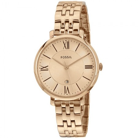 Women's Jacqueline Rose Gold-Tone Dial Rose Gold-Tone Stainless Steel Band Quartz Watch